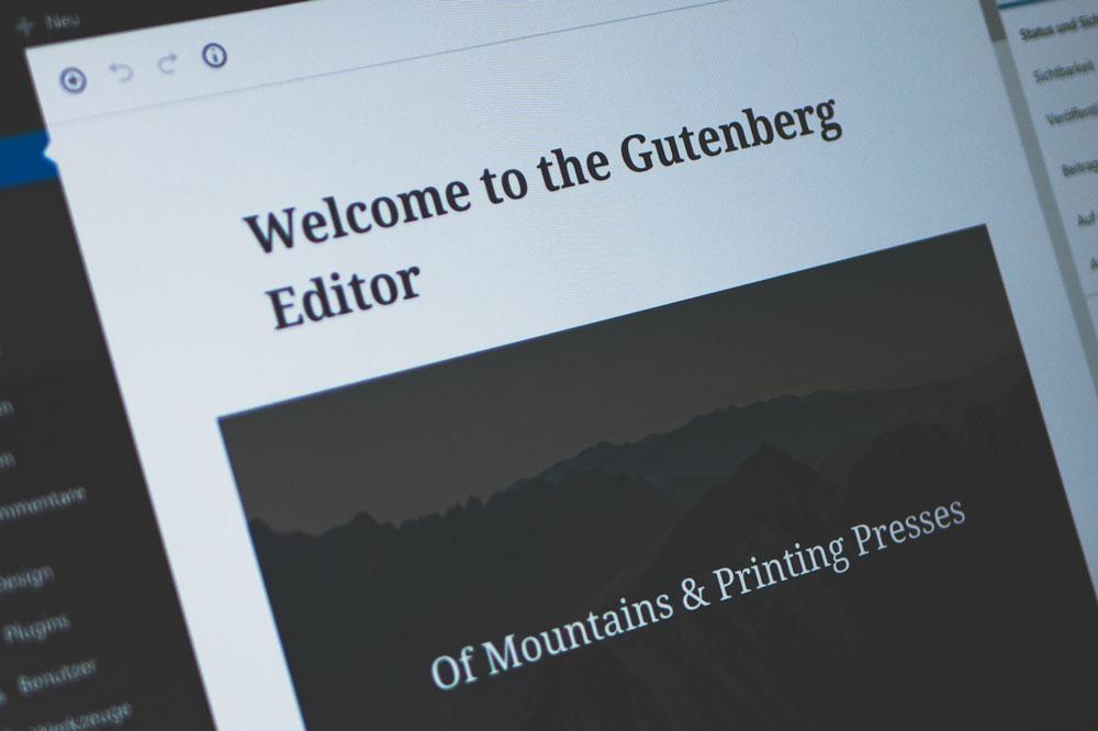 Der neue WordPress Editor Gutenberg