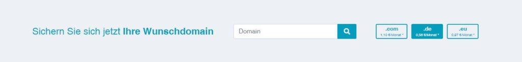Formular zur Registrierung von Domains auf lansol.de.