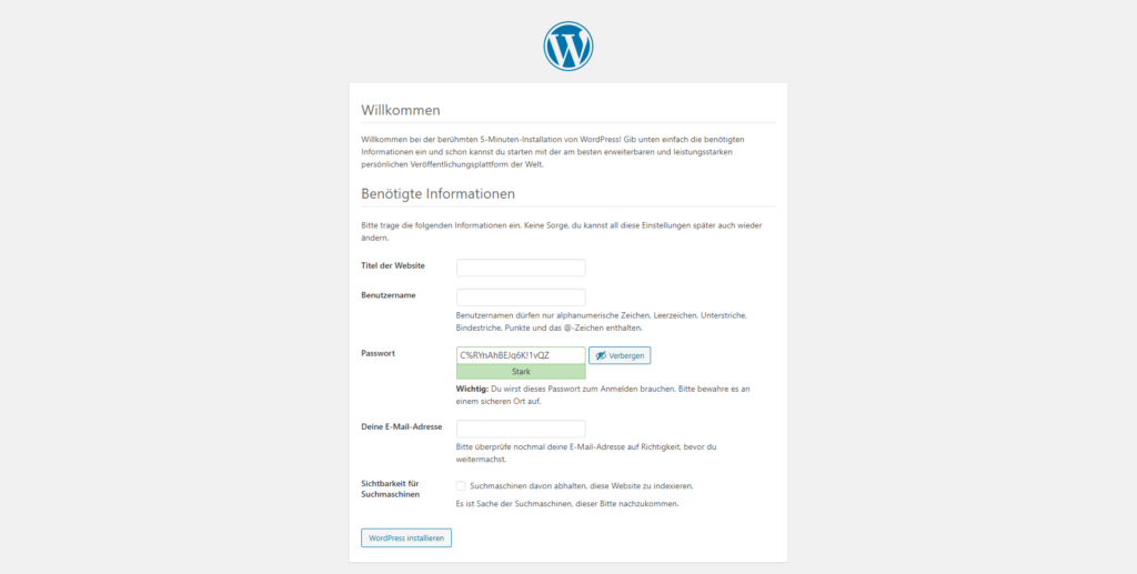 WordPress-Installation.