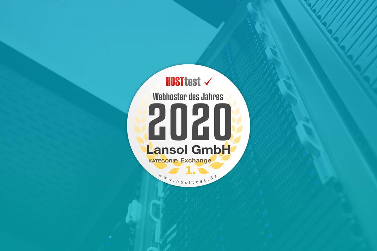 LANSOL zum Webhoster des Jahres 2020 ausgezeichnet